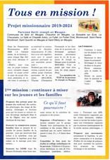 Projet missionnaire 2019-2024